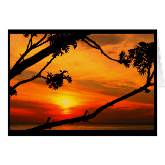 Vibrant Sunset Thinking Of You Card