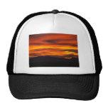 vibrant sunset trucker hat