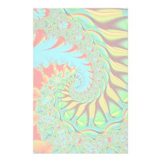 Vibrant swirl fractal stationary stationery