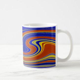 Vibrant Swirling Agate Striped Mug