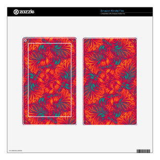Vibrant Swirls Background Kindle Fire Decals