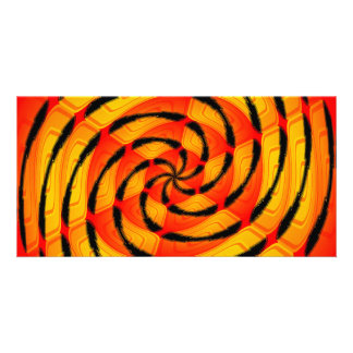 Vibrant tigerlike abstract card
