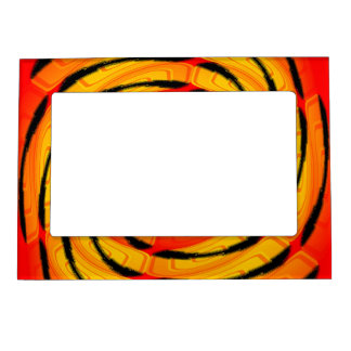 Vibrant tigerlike abstract magnetic picture frame