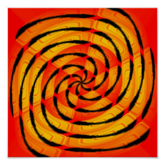 Vibrant tigerlike abstract poster