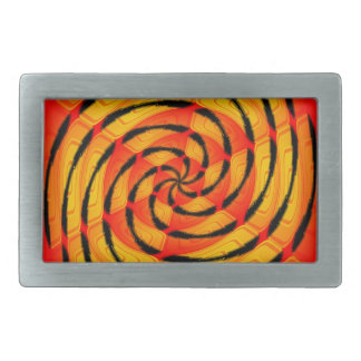 Vibrant tigerlike abstract rectangular belt buckle