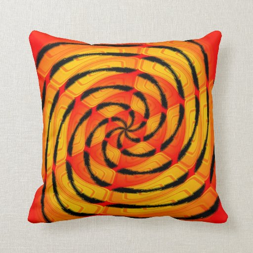 Vibrant tigerlike abstract throw pillow Zazzle