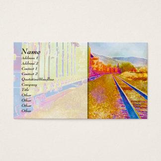 Vibrant Train 1 Business Card Template