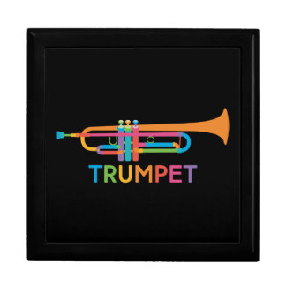 Vibrant Trumpet in Rainbow Colors Gift Box
