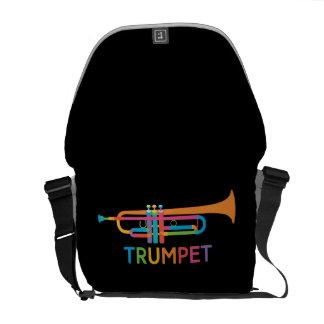Vibrant Trumpet in Rainbow Colors Messenger Bag