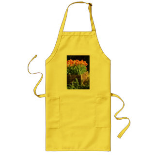 Vibrant tulips aprons