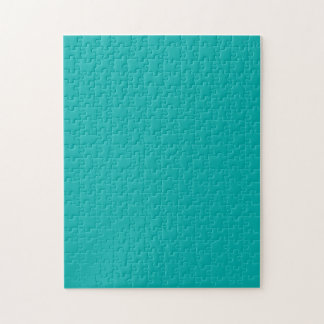 Vibrant Turquoise Peacock Color Ready to Customize Jigsaw Puzzle
