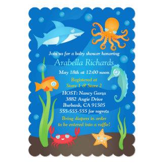 "Vibrant Under the Sea Baby Shower Invitations 5"" X 7"" Invitation Card"