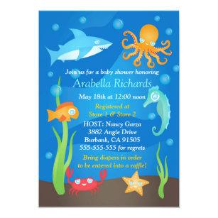 Under the sea baby shower invitations announcements zazzle vibrant under the sea baby shower invitations filmwisefo
