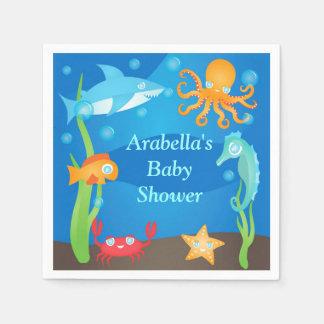 Vibrant Under the Sea Baby Shower Napkin