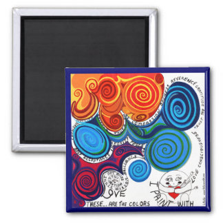 Vibrant Uplifting Positive Art and Words Magnets
