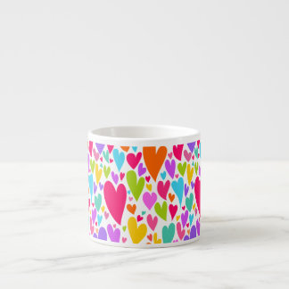 Vibrant Valentine's hearts Espresso Mug