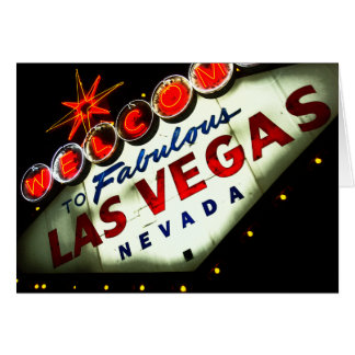 Vibrant Vegas Sign - Cards