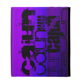Vibrant Violet Blue and Magenta iPad Folio Covers