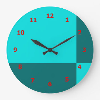 Vibrant Wall Clock with Tile Design