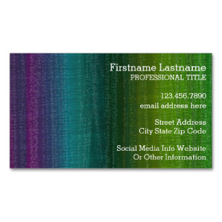 Vibrant Watercolor Abstract Stripes Custom Name Magnetic Business Cards