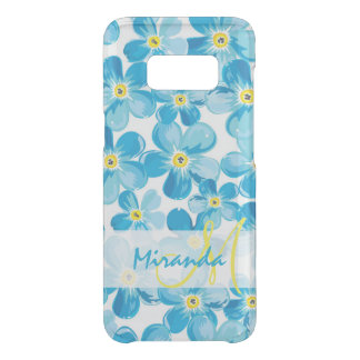 Vibrant watercolor blue forget me not flowers name uncommon samsung galaxy s8 case