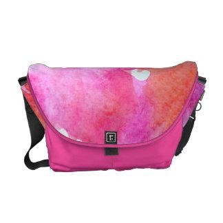 Vibrant Watercolor Courier Bag
