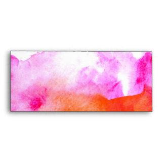 Vibrant Watercolor Envelope