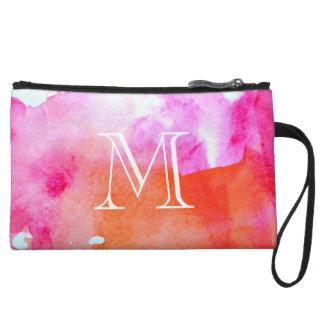 Vibrant Watercolor Wristlet Wallet