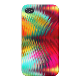 Vibrant Wavy Ripples Asst Colors Cases For iPhone 4