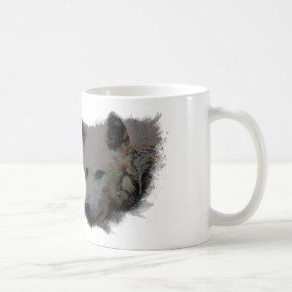 Vibrant Wolf Classic White Coffee Mug