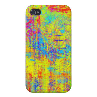 Vibrant Yellow Abstract Art iPhone 4 Case