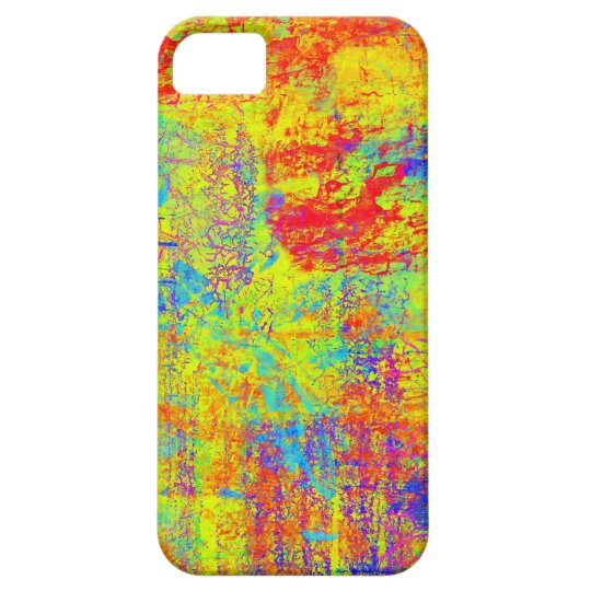 Vibrant Yellow Abstract Art iPhone SE/5/5s Case