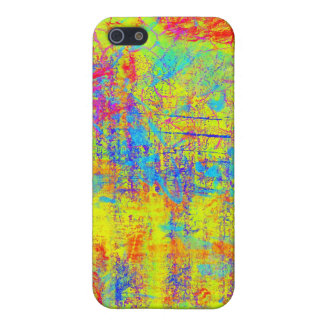 Vibrant Yellow Abstract Art iPhone SE/5/5s Cover