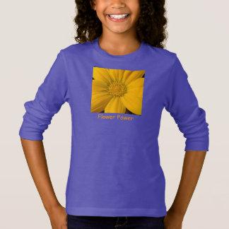 Vibrant Yellow Gazania Flower Power Sweat Shirt