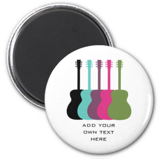 Vibrantly Colored Guitars Magnet