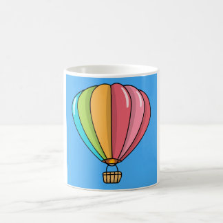 Vibrantly Colored Hot Air Balloon Coffee Mug