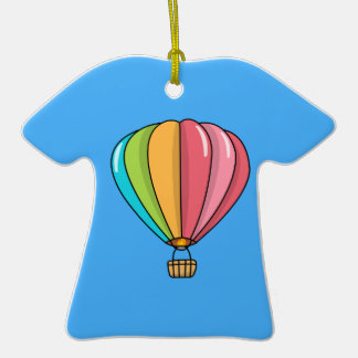 Vibrantly Colored Hot Air Balloon Christmas Tree Ornament