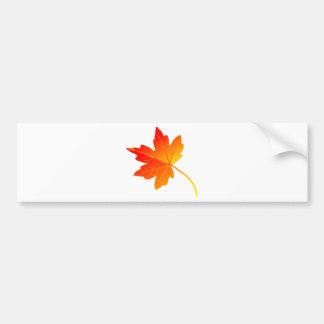 Vibrantly Colorful Orange Autumn/Fall Maple Leaf Bumper Sticker