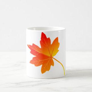 Vibrantly Colorful Orange Autumn/Fall Maple Leaf Coffee Mug