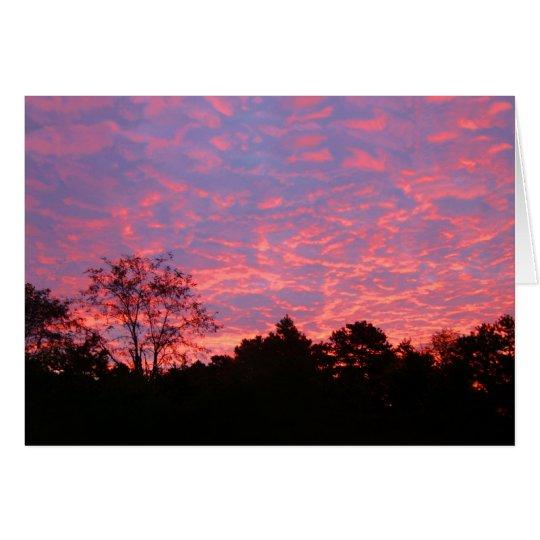 Vibrantly Pink Sunrise Card
