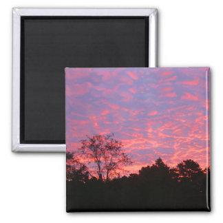 Vibrantly Pink Sunrise 2 Inch Square Magnet