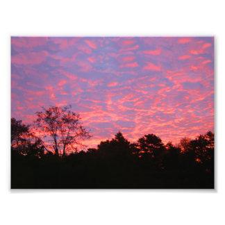 Vibrantly Pink Sunrise Photograph
