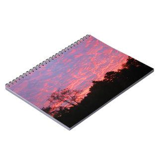 Vibrantly Pink Sunrise Spiral Notebook