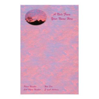 Vibrantly Pink Sunrise Stationery