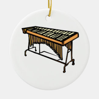 vibraphone simple instrument design.png Double-Sided ceramic round christmas ornament