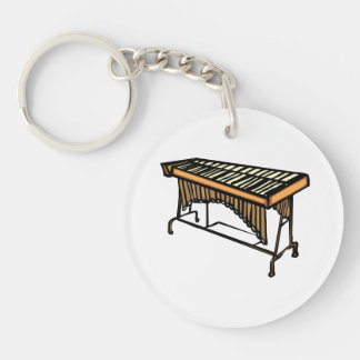 vibraphone simple instrument design.png Double-Sided round acrylic keychain