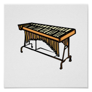 vibraphone simple instrument design.png posters