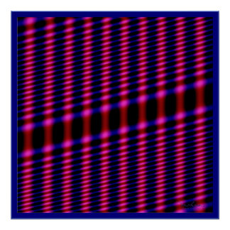 Vibrating Blue Magenta Lines Poster