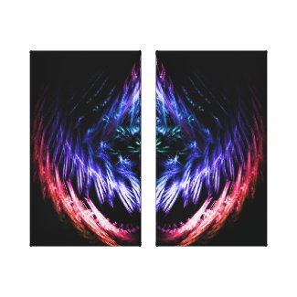 Vibrating Color Double Pane Canvas Print