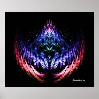 Vibrating Color Fractal Print